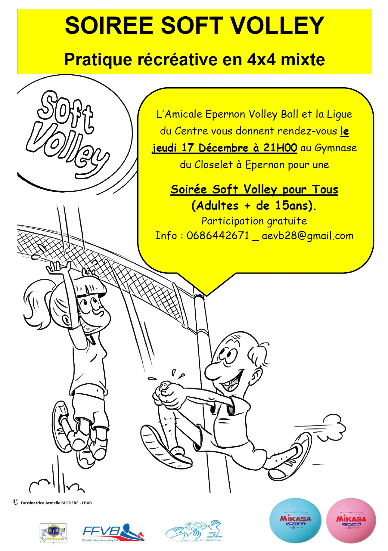 AfficheSoftVolley AmicaleEpernonVolley LigueduCentre